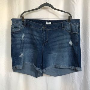 Old Navy pre-ripped jean shorts